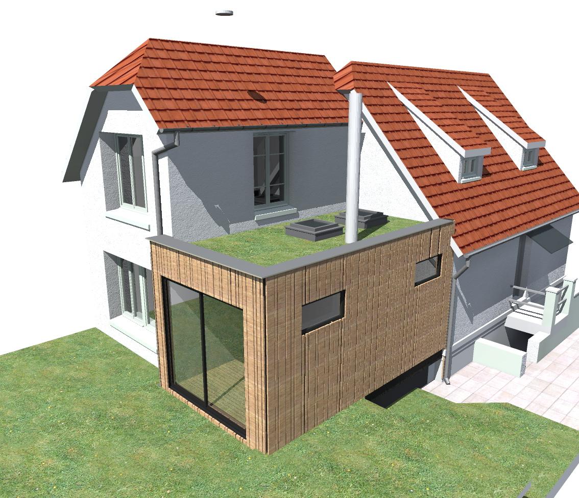 la maison bois contemporaine extension maison bois dourdan. Black Bedroom Furniture Sets. Home Design Ideas