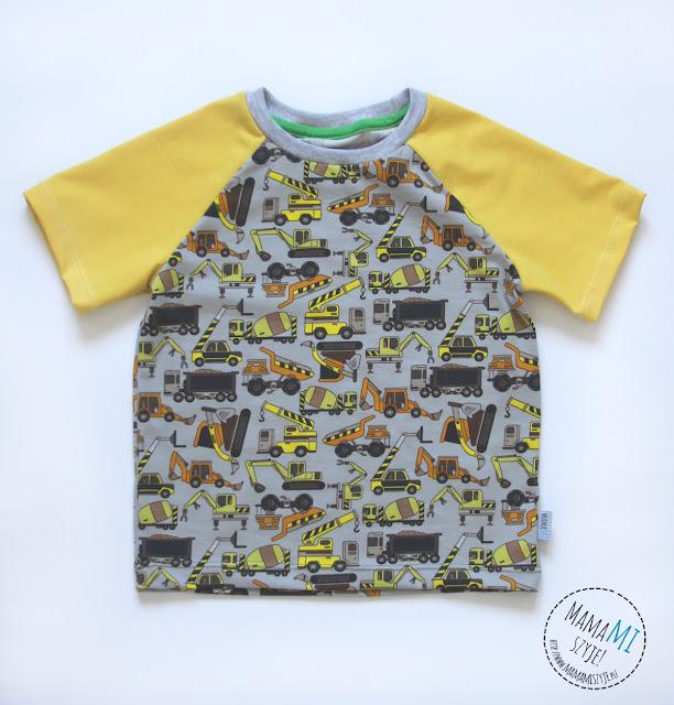 walce, dźwigi, wywrotki, koszulka chłopięca, raglan dla chłopca, bluzka na lato