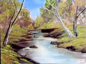 Oil Paintings of 3 bubbling stream Bob Ross Art for sale by Artists - bubbling stream bob ross