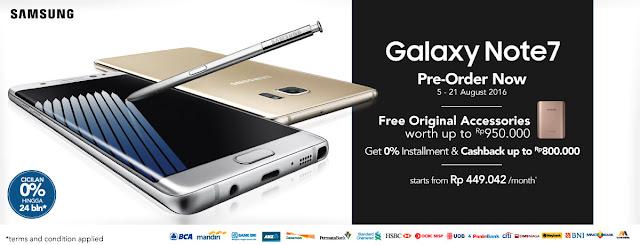 Banner Berbagai Promo Menarik Preorder Samsung Galaxy Note 7 di BliBli.com