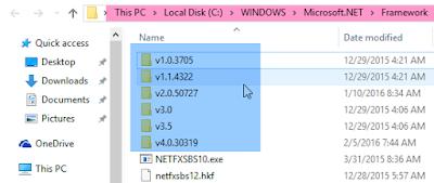 Cara Menghapus Dan Melihat Versi NET Framework Yang Terinstall