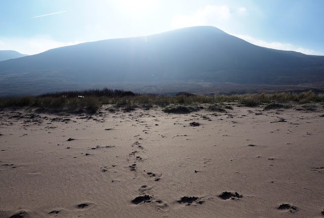 vuori, aurinko, ranta, irlanti