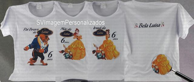 o preço mais barato para Camiseta a bela e a fera  para mãe e filha e a familia