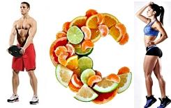 Vitamina C pesas masa muscular gym