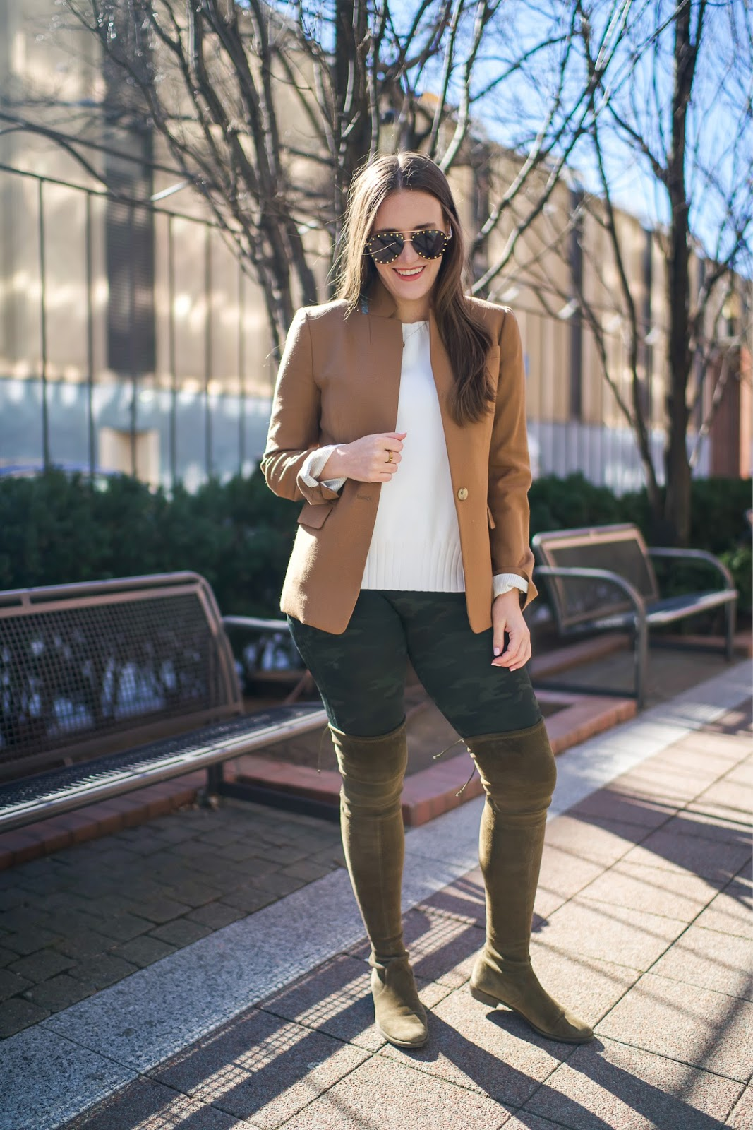 Camo Print Leggings by popular New York style blogger Covering the Bases