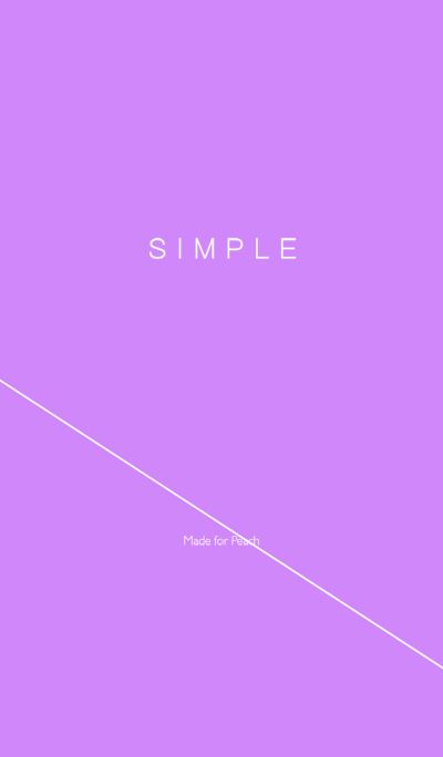 SIMPLE STYLE / PURPLE