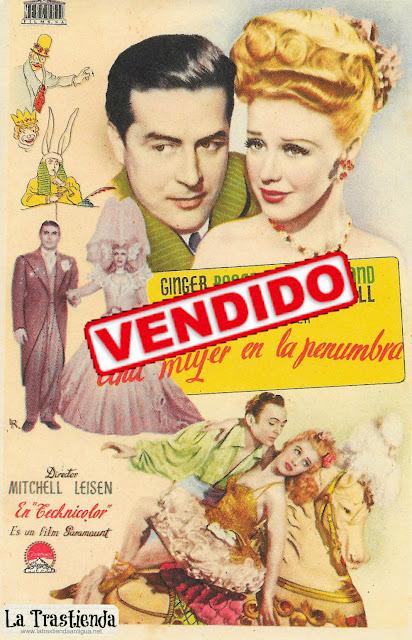Una Mujer en la Penumbra - Programa de Cine - Ginger Rogers - Ray Milland