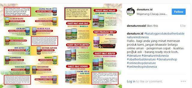 Paket Obat Herbal De Nature Indonesia