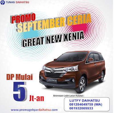 Promo Daihatsu Xenia Jakarta Timur, Dp Ringan!