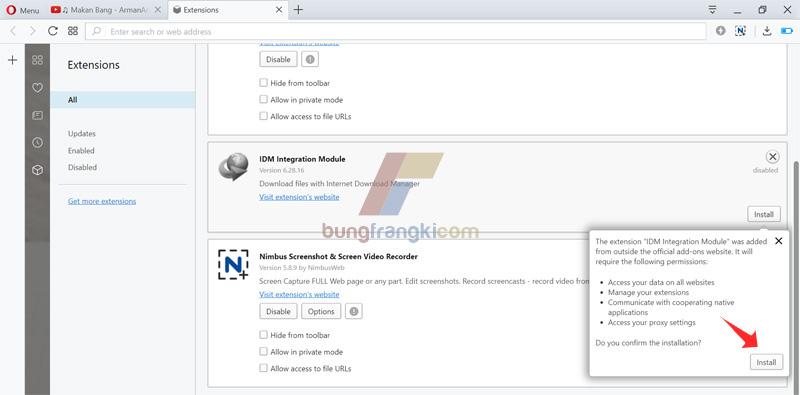 Solusi IDM tidak bisa download di Opera Mini