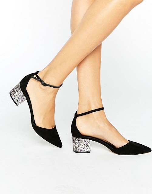 ASOS show up glitter pointed shoes