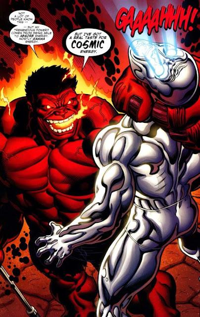 Hulk Rojo vs Silver Surfer