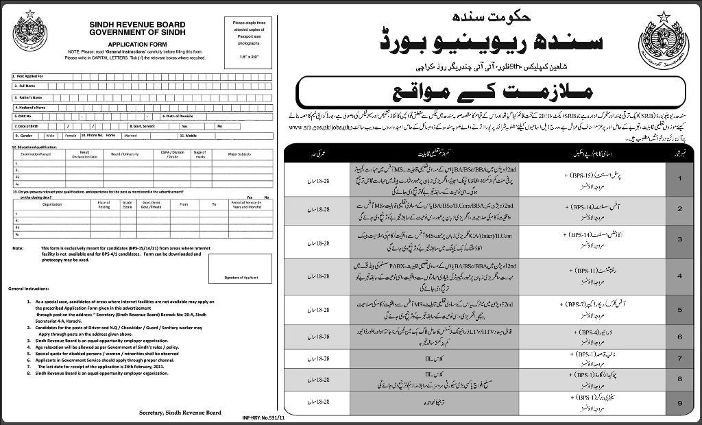 Today Jobs Pakistan: Account Assistant Job in Sindh Revenue