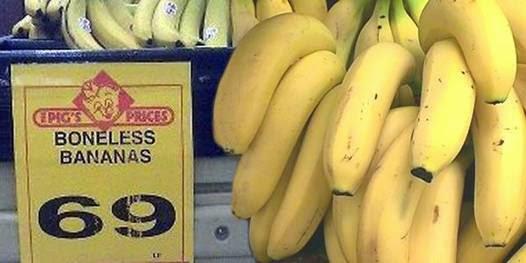 Funny Africa supermarket boneless bananas picture
