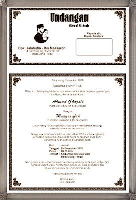 undangan akad nikah maesaroh