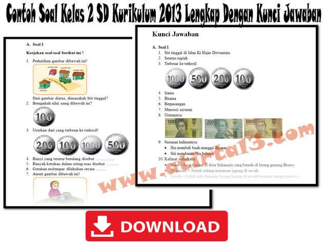 Contoh Soal Kelas 2 SD Kurikulum 2013 Plus Kunci Jawaban