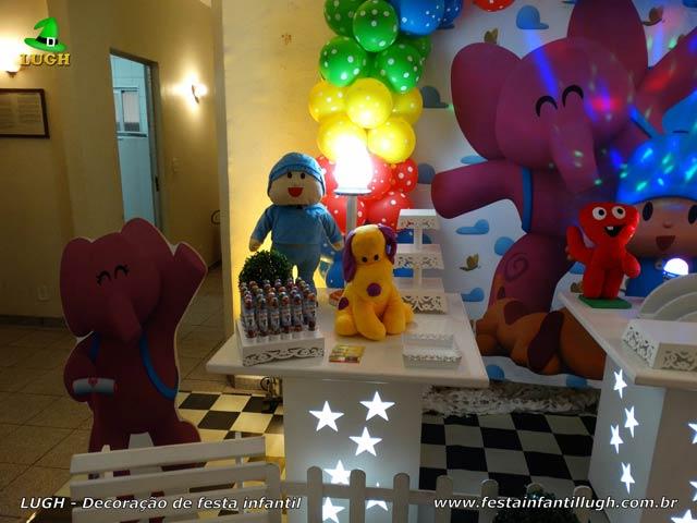 Decoração de festa infantil Pocoyo - Mesa decorativa de aniversário
