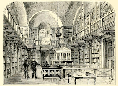 The library of St Paul's Cathedral  from Old and New London by W Thornbury (1873)