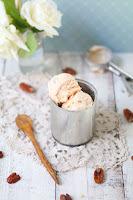 Recette d'une délicieuse glace au dulce de leche et aux noix de pécan