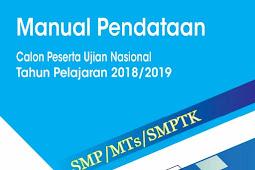 Download Modul Sistem Pendataan Calon Peserta Ujian Nasional/UN SMP Online 2019