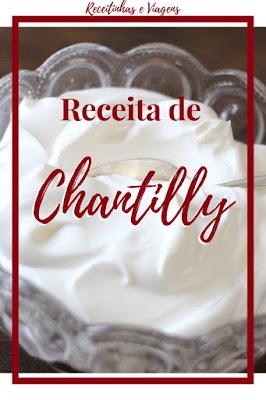 Como fazer Chantilly com licor