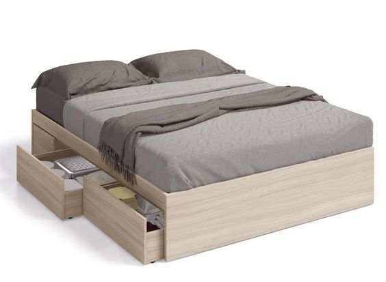 Modern storage bed frames are now popular in modern history. Bed frames are the base of whole bed with locker side storage bed, locker bed is a packing maximum usefulness maximize space. It combines a platform bed with attached side dresser with plenty of easy-access storage. Check 60 Incredible Queen-Sized Beds with Storage Drawers Underneath.