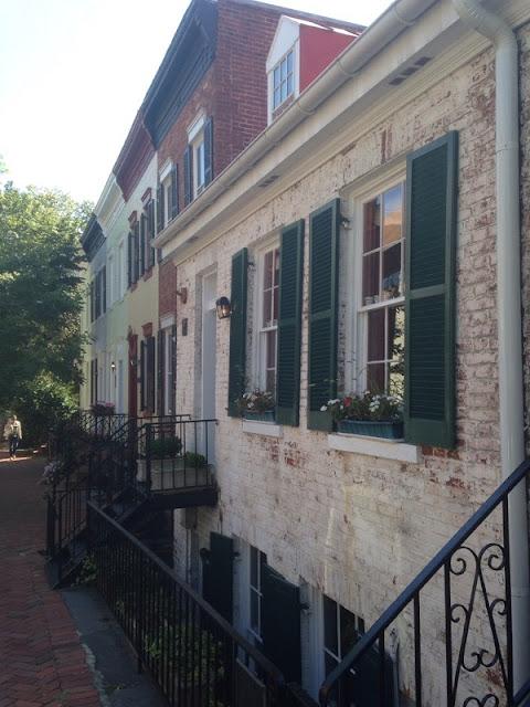 Alte Häuser in Georgetown, dem ältesten Teil von Washington DC