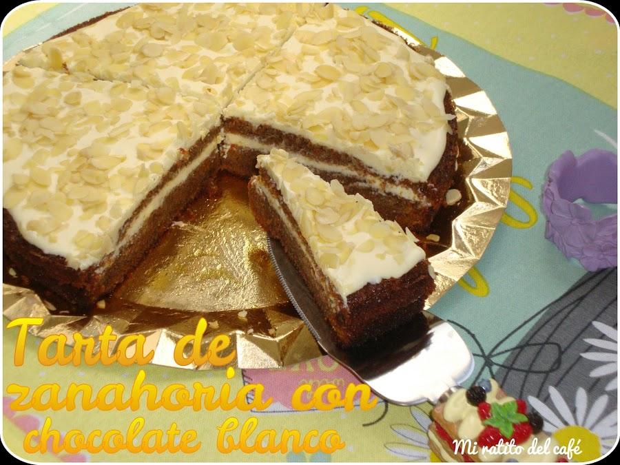 Tarta de zanahoria con chocolate blanco