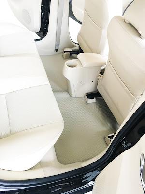 Thảm lót sàn ô tô Toyota Vios 2016 - Hàng 2 - Kem