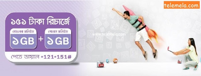 Airtel 2GB Internet Package at 151Tk