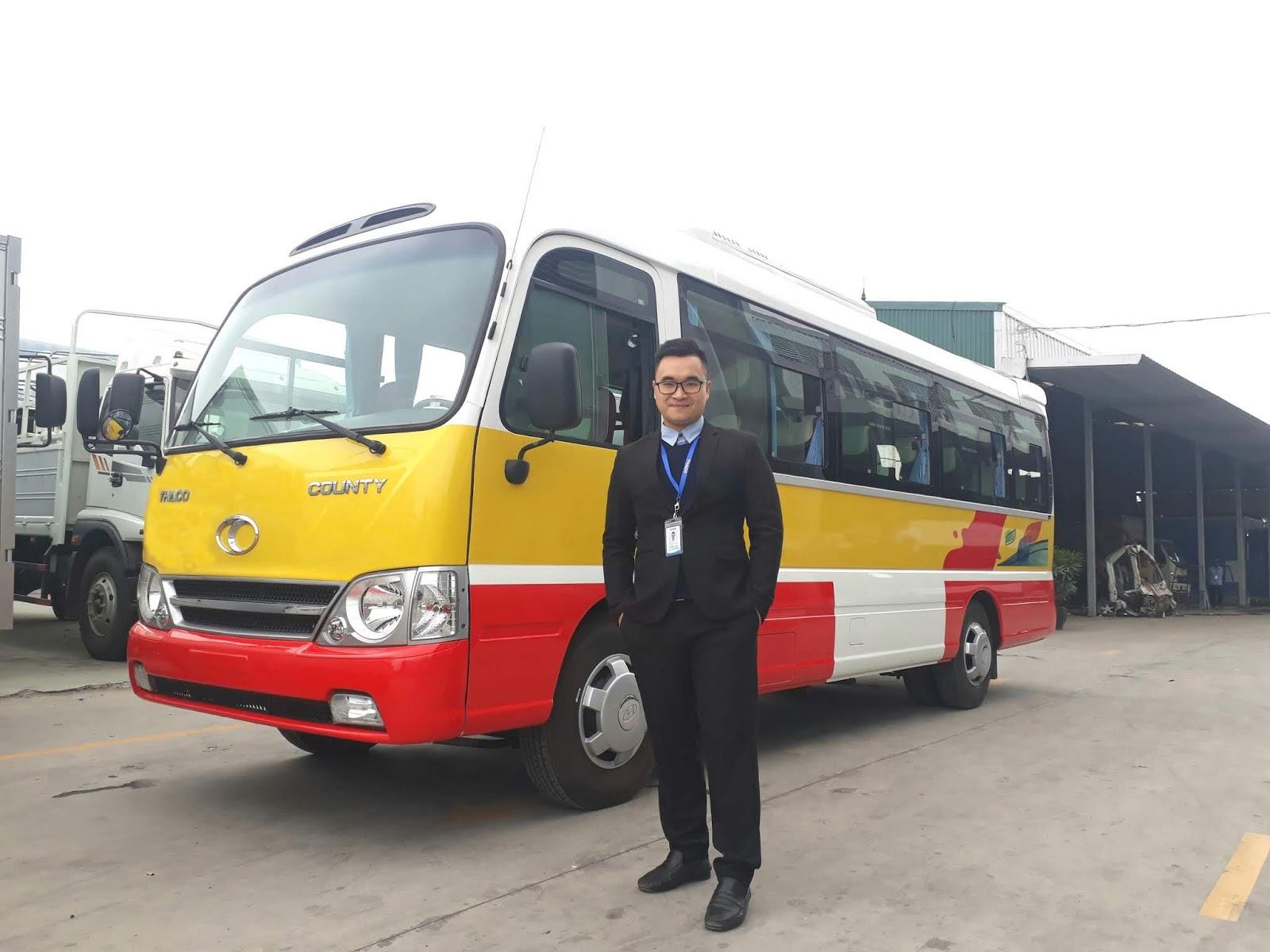 Xe khách 29 chỗ Thaco tại đại lý Trọng Thiện