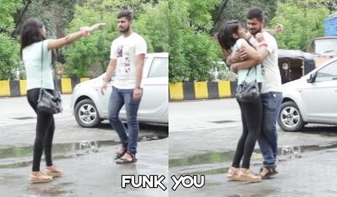 Girl giving a Hug Prank by Funk You