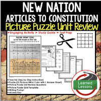 New Nation, Civics Test Prep, Civics Test Review, Civics Study Guide, Civics Interactive Notebook Inserts, Civics Picture Puzzles