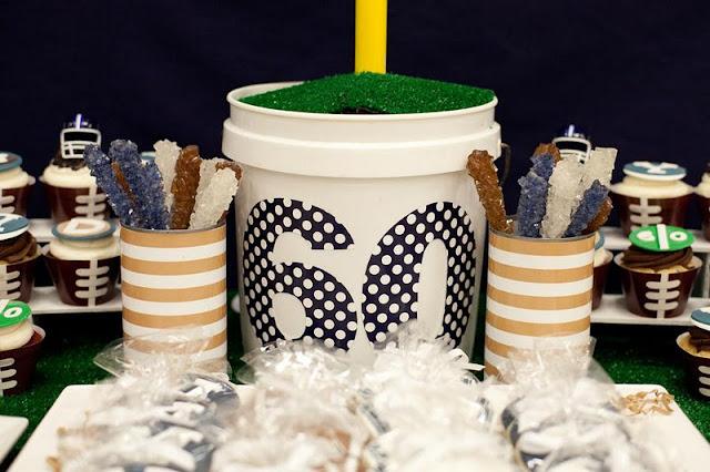 Kara's Party Ideas Surprise 60th Birthday Football
