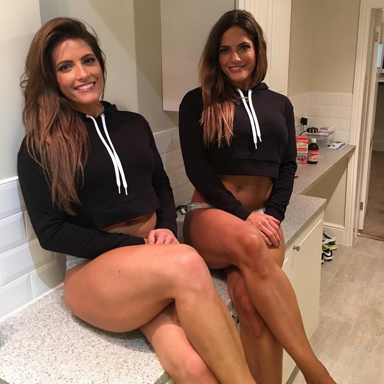 Jenny and Lucy West twins Fitness Models
