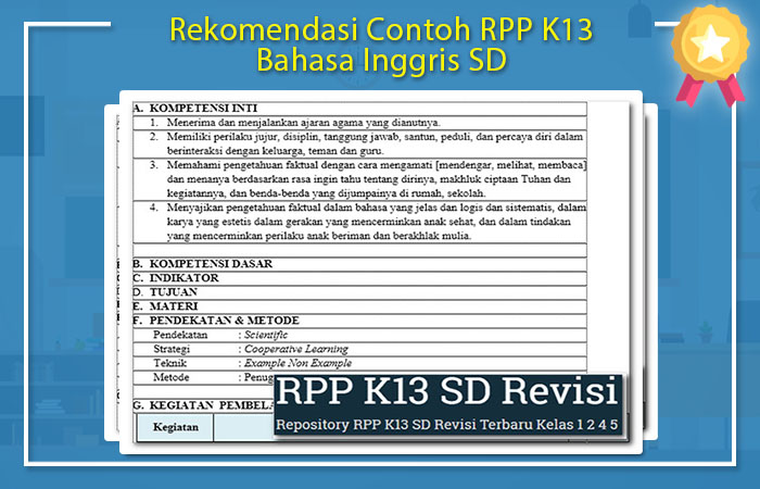 Contoh RPP K13 Bahasa Inggris SD
