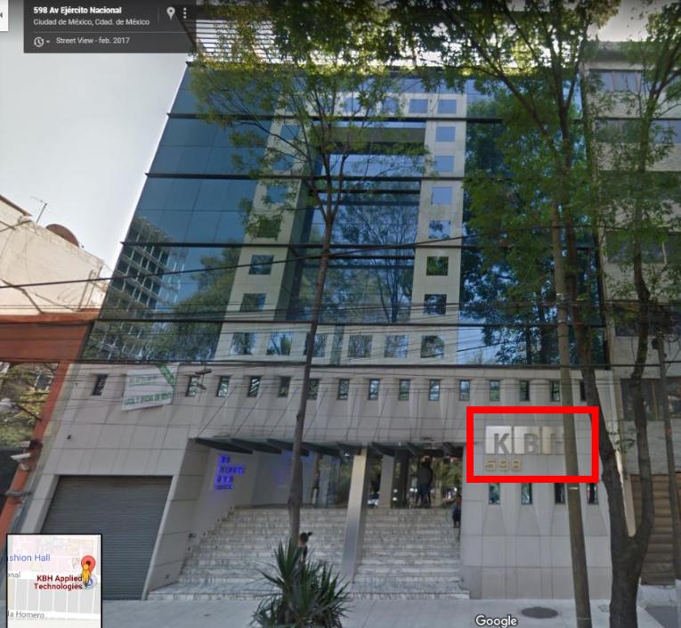 El edificio matriz de VME, bajo el nombre de su supuesta matriz KBH. FOTO: Google Maps