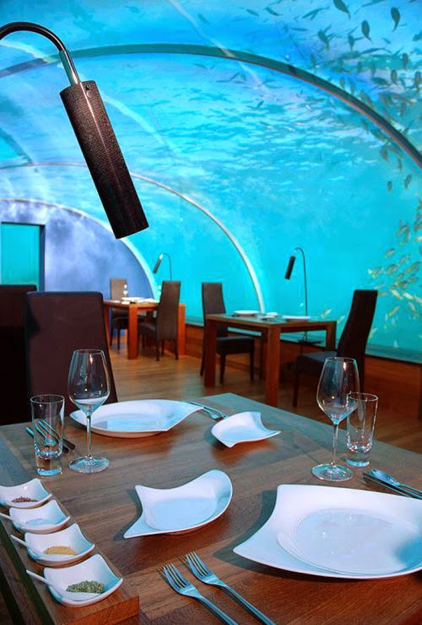 Ithaa Maldives restaurant