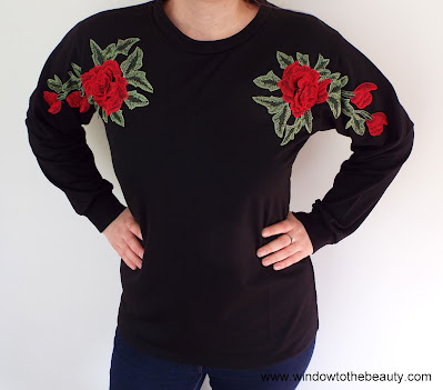 Flower Embroidery Sweatshirt