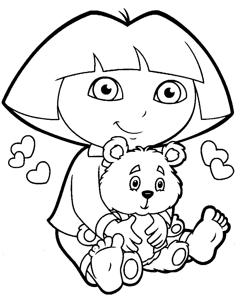 Cartoons Coloring Pages: Dora The Explorer Coloring Pages
