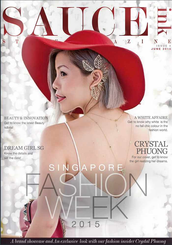 Crystal Phuong on a cover of SAUCEink Magazine June issue