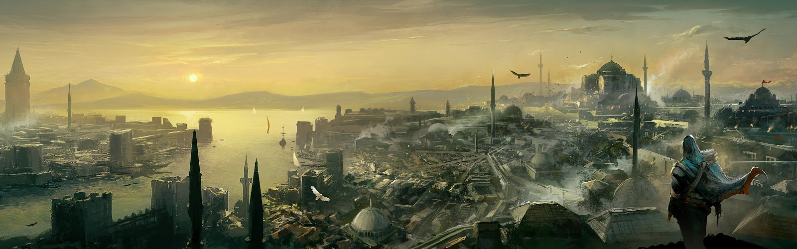 Wallpaper A Day Dual Screen Monitor City Of Rome Assasin Creed