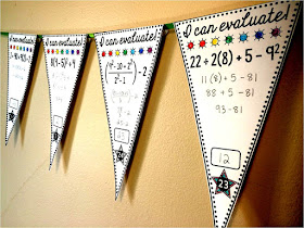 Order of operations math pennant