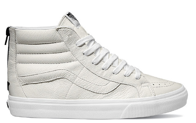 All White Leather SK8-Hi Zip R$ 499,99