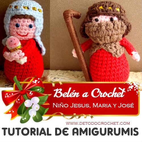 virgen-maria-niño-jesus-san-jose-crochet-amigurumi