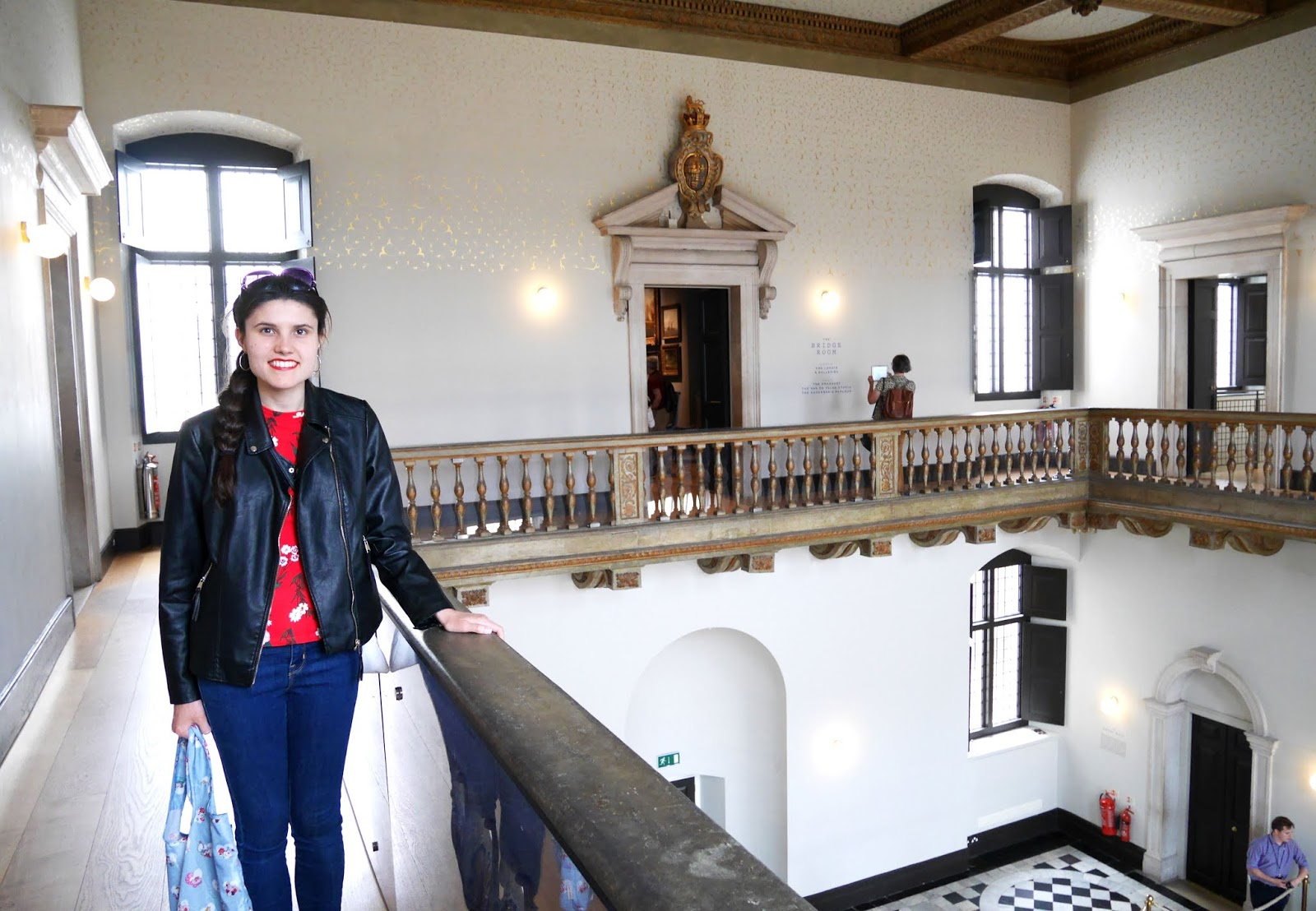 Kat Last visiting The Queen's House in Greenwich, London