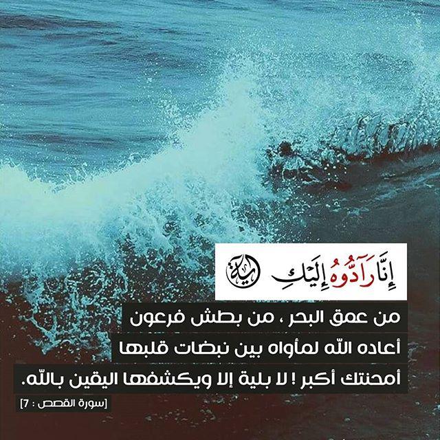 مدونة رمزيات (إِنَّا رَادُّوهُ إِلَيْكِ) من عمق البحر من بطش فرعون أعاده الله لمأواه بين نبضات قلبها