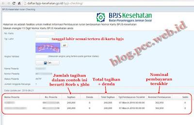 Cara Cek Iuaran/pembayaran BPJS