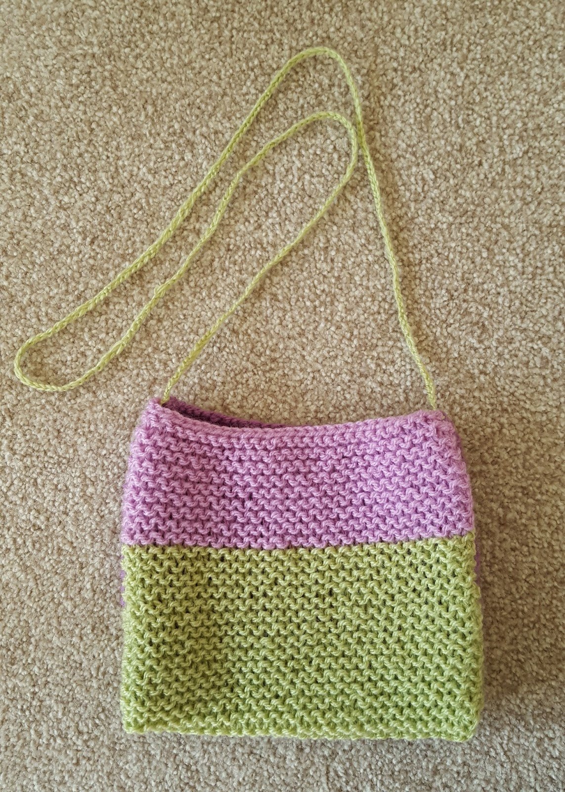 Created To Be Awesome Easy Knit Girls Bag