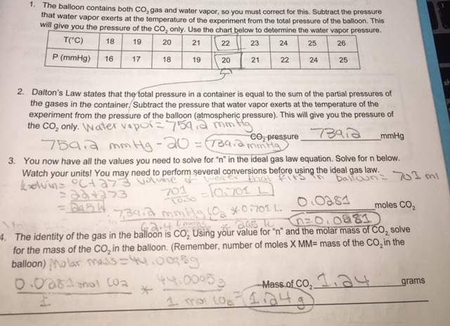 Alka Seltzer and the Ideal Gas Law Lab Write Up | Chemistry Honors